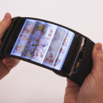 The interactive bending smartphone develop by Canadian researchers